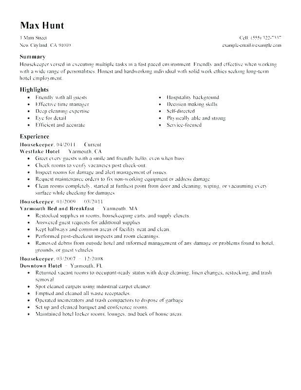 Sample Janitor Resume 2019 Cover Letter For Resume Resume Templates