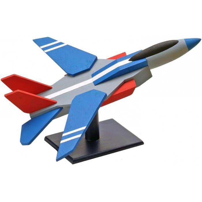 houten vliegtuig speelgoed - jachtvliegtuig