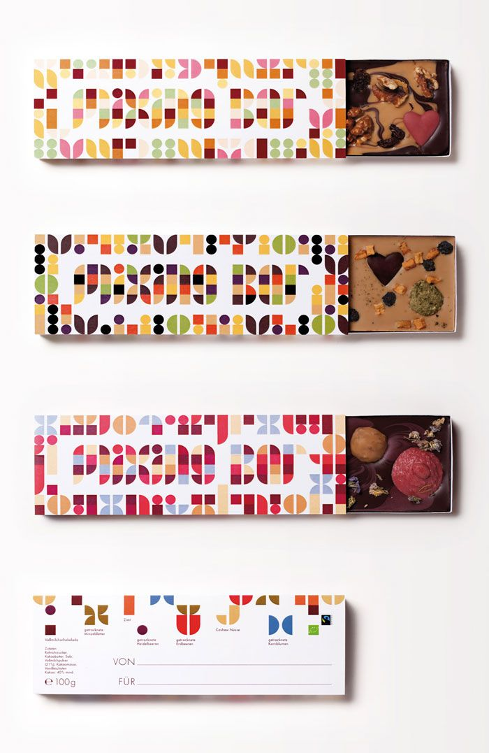 Student: Zotter Mixing Bar - ChocolatePackaging - The Dieline -