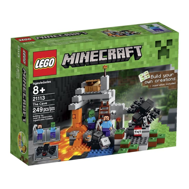 #LEGO #Minecraft The Cave 21113 Playset Steve, Zombie and Spider