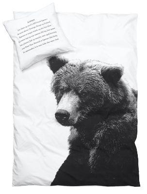bäddset björn VUXEN - enkelsäng - BY NORD