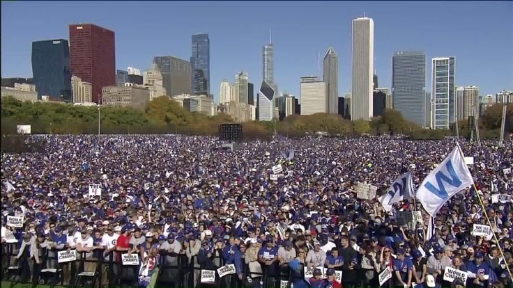 CHICAGO -- Chicago police estimate that 5 million people attended the Chicago Cubs World Series rally and parade Friday.  The Chicago Cubs and their families took buses from Wrigley Field through downtown Chicago, and then arrived at Grant Park for a huge rally.  Relive the amazing day below: