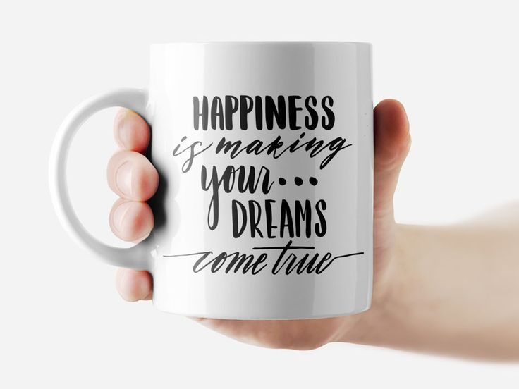 Happiness is making your dreams come... Mug Funny Rude Quote Coffee Mug Cup Q267 #Handmade