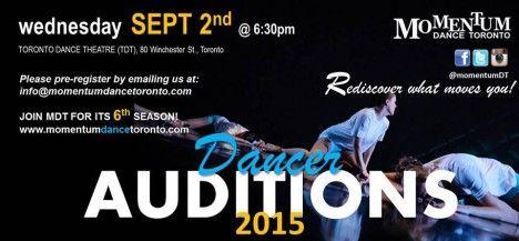 Momentum Dance Toronto – Company Auditions 2015/2016