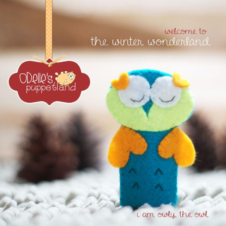 OWLY THE OWL is one of the 50 cute characters in odelle's puppetland. Each character here, is available for the finger puppet, pencil puppet  mini puppet. Get them for only rp7.000/each. Contact me: http://odellespuppetland.blogspot.com sms/wa : 0896 420 97 266 ping me! 7448EE1E  #fingerpuppet # puppet #odellespuppetland #handmade #craft  #felt  #boneka jari #owl #baby #kids #edutoys