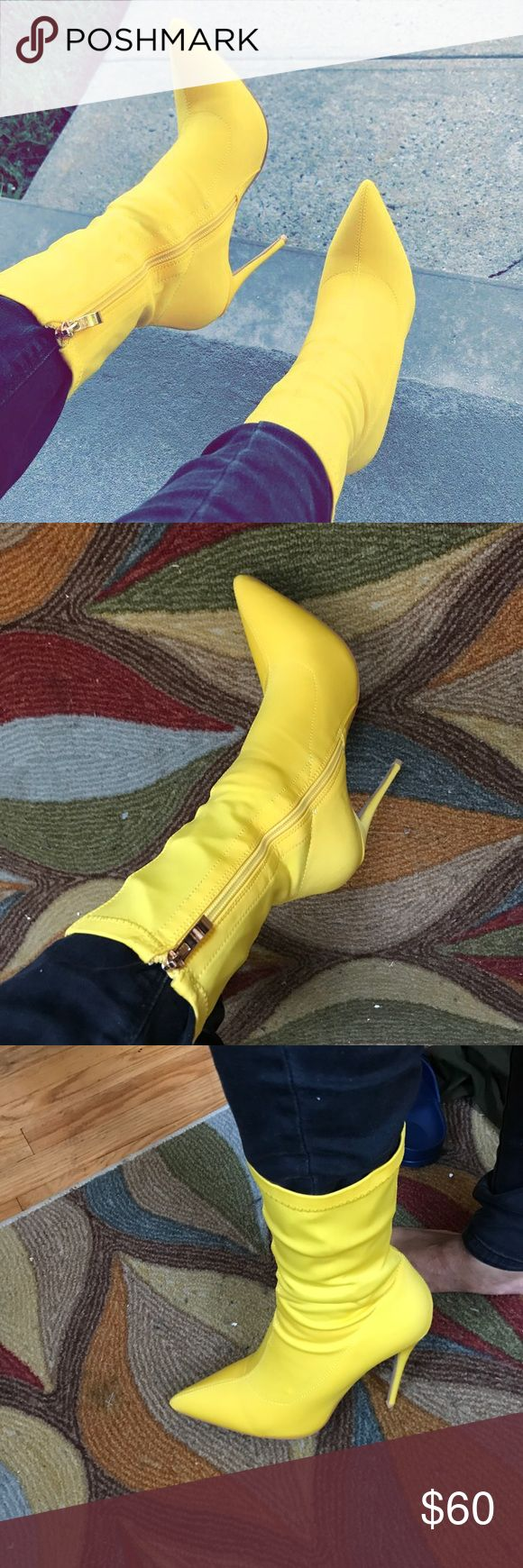 Yellow Ankle boots Never Worn Yellow ankle boots || super cute & stylish || Ego Shoes Ankle Boots & Booties