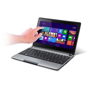 "Gateway Silky Grey 10.1"" LT41P05u Laptop PC with Intel Celeron N2805 Processor, 2GB Memory, Touchscreen, 320GB Hard Drive and Windows 8"
