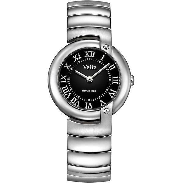 Orologio Acciaio Donna Analogico Solo Tempo Nero Wiler Vetta Paris VW0089