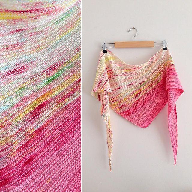 Arlequin shawl, Peggy Maxheim, en français.