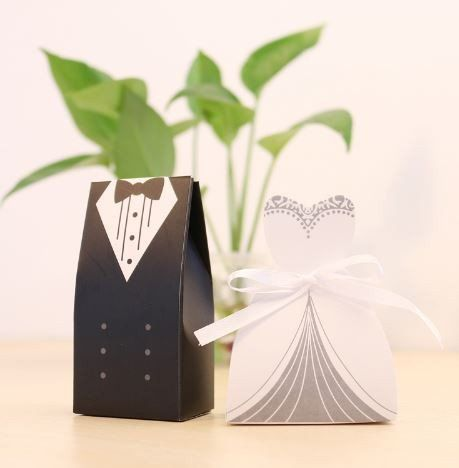 Wedding Gifts For Bride And Groom Walmart : 100 pc. Bride and Groom Wedding Favor Boxes