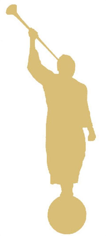 "Angel Moroni Gold Vinyl Decal 4"" | Accessories on LDSBookstore.com (#KCV-ANGELMORONI4)"