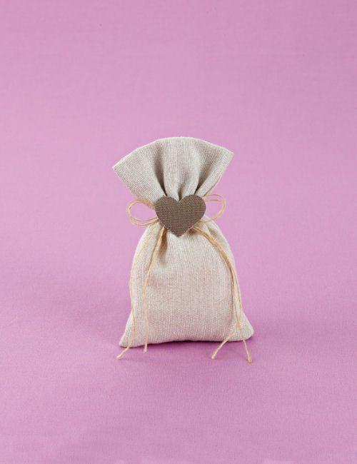 www.mpomponieres.gr Μπομπονιέρα γάμου μικρό πουγκί από λινό ύφασμα, με δέσιμο…