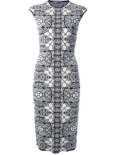 ALEXANDER MCQUEEN Stained Glass Jaquard-Knit Dress