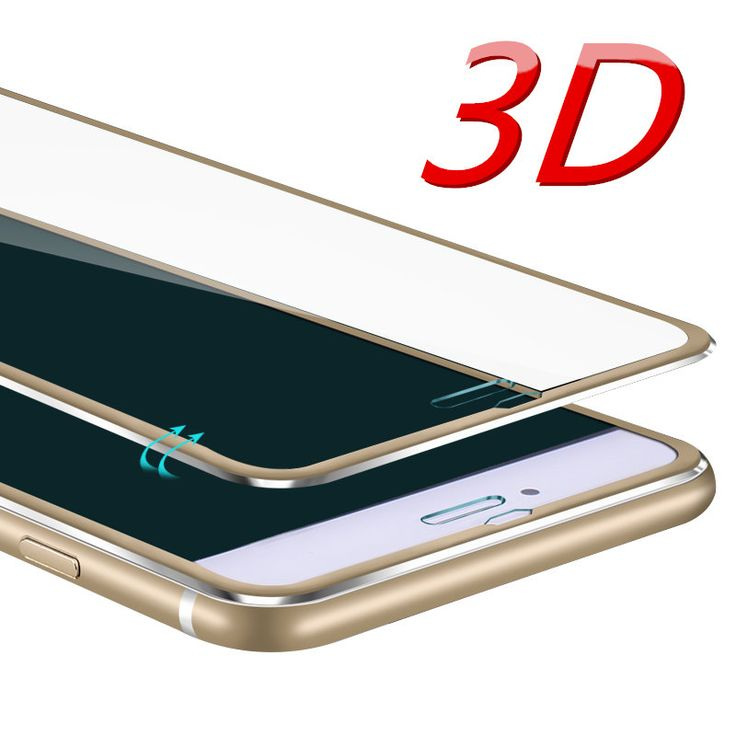 3D Aluminum alloy Tempered glass For iphone 6 6S 7 Plus 5 5S SE Full screen protector protective guard film front case //Price: $2.21//     #electonics