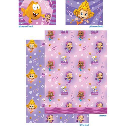 Bubble Guppies Bedding Sheet Set Walmart Com Aria