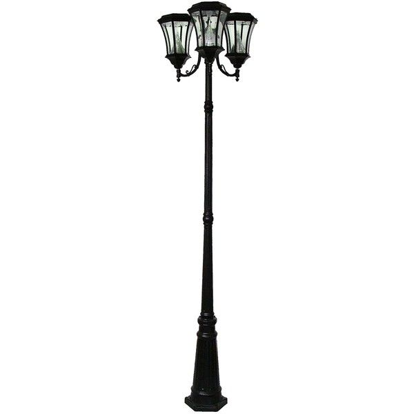 Victorian Black Solar LED Triple Outdoor Lamp Post featuring polyvore   home  outdoors  outdoor lighting  fillers  furniture  lighting   embellishment  lamps   Best 25  Victorian outdoor lighting ideas on Pinterest   Victorian  . Outdoor Solar Lamp Post. Home Design Ideas