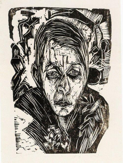 Ernst Ludwig Kirchner, Junges Mädchen mit Zigarette (Nele van de Velde) [Young Girl with Cigarette (Nele van de Velde)], 1918