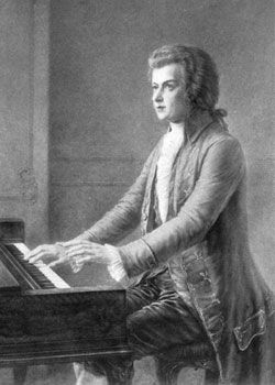"""Wolfgang Amadeus Mozart (1756-1791) began composing music at the age of 5 and continued for the rest of his life, creating beloved works such as The Magic Flute and the unfinished """"Requiem."""" One of the most prolific classical composers, Mozart created more than 600 pieces of music."""