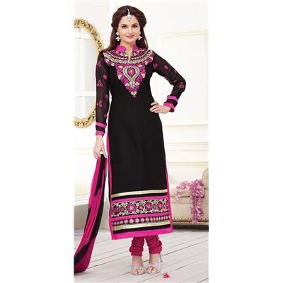 Buy Black Color Chanderi Straight Salwar Suit by undefined, on Paytm, Price: Rs.748?utm_medium=pintrest