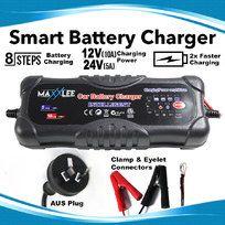 Smart Battery Charger 2A 5A 10A 12V/24V Automatic 8 stages SLA  Car 4WD Caravan