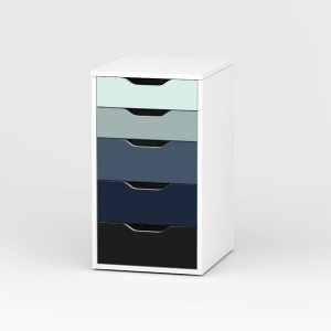 juste g nial pack stickers caisson 5 tiroirs vika alex home office pinterest repeindre. Black Bedroom Furniture Sets. Home Design Ideas
