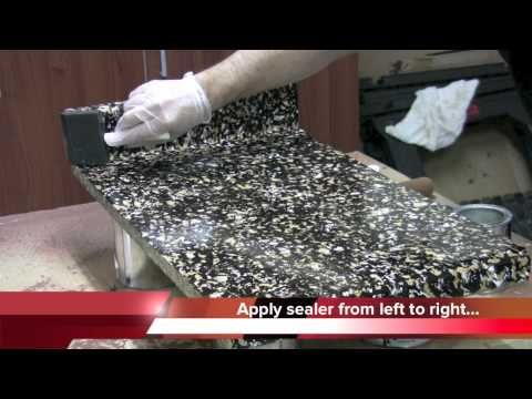 Painting Faux Granite  -- Sealing the Countertop