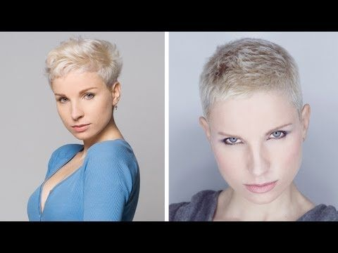 Pixie cut with buzzed sides. Excellent video to show your stylist if you want to go this short. :)