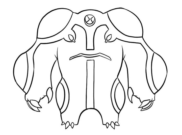 Ben 10 Waybig Coloring Pages