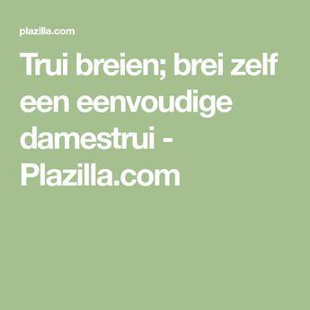 Trui breien; brei zelf een eenvoudige damestrui - Plazilla.com