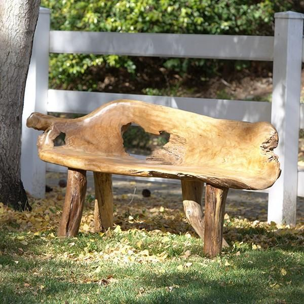 Garden Age Supply Habini Teak Root Benches In 2020 Creative Gardening Outdoor Stools Organic Furniture