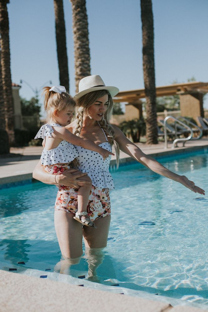 Mommy and Me Swimsuits + a Kortni Jeane Giveaway - Living in Color