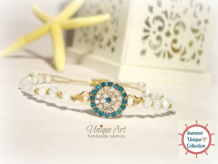 New #gold & #white #summer_bracelet by #UniqueArt   https://www.facebook.com/UniqueArtDk/photos/pb.352268808302264.-2207520000.1438115496./404831699712641/?type=3&theater
