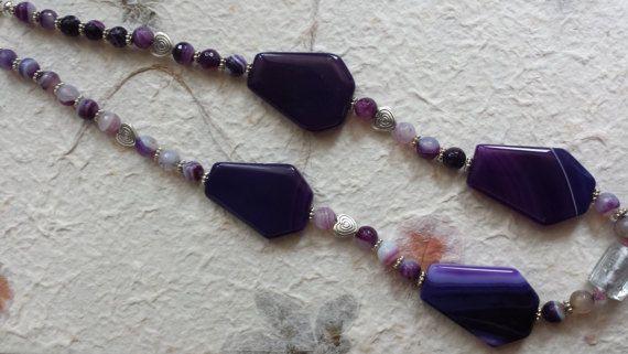 collana agata viola di Anaherabijoux su Etsy