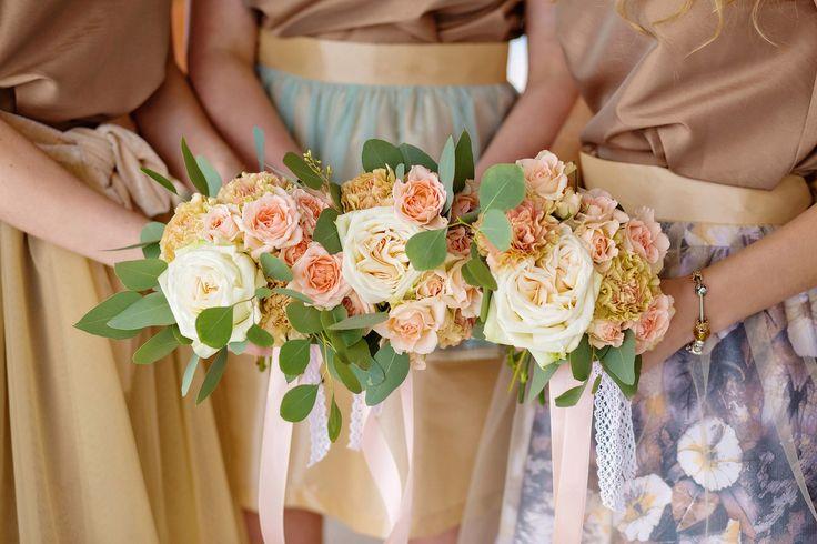 """Фотопроект """"Свадьба всех времен... года"""". Шебби шик. Зима.   букеты подружек невесты"""