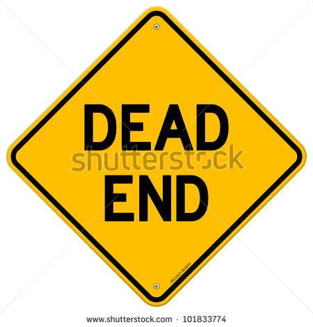 Dead End Sign - stock vector