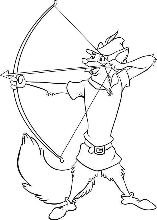 Robin Hood Aim For Target Coloring Pages : Best Place to