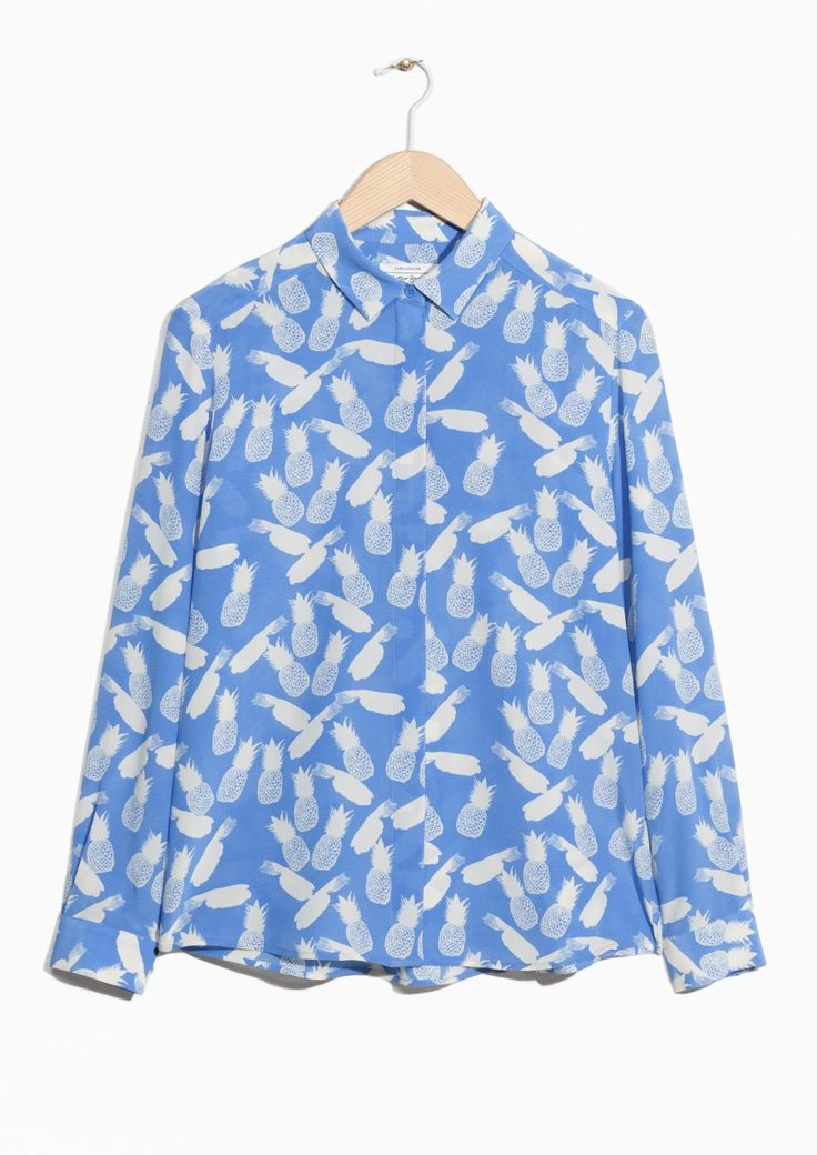 & Other Stories image 1 of Silk Shirt in Blue