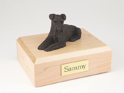 GENUINE North American Hardwood and Bronze Schnauzer Ears Down Dog Figurine Pet Cremation Urn Medium ** See this great product. (This is an affiliate link and I receive a commission for the sales)