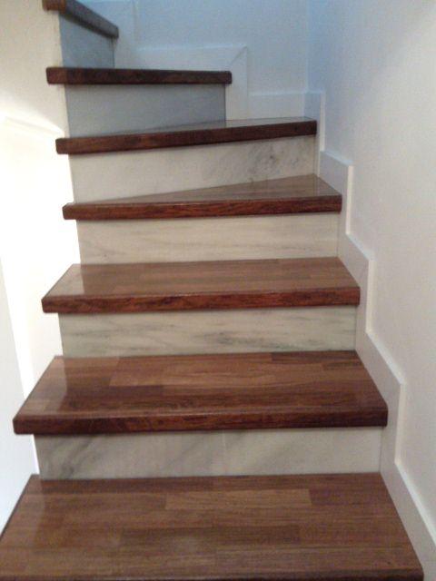 17 mejores ideas sobre escaleras de madera en pinterest for Escalera electricista madera