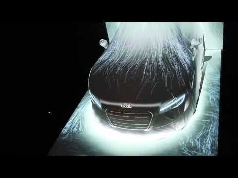 team lab exhibit at Audi Forum Tokyo 「The Waterfall on Audi R8」by fieldcasterjapan