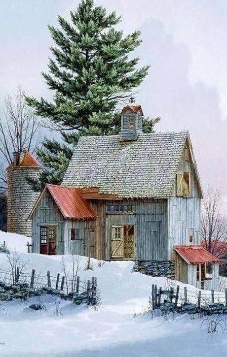 Snowy Barn......