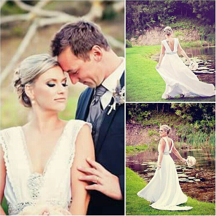@karymdesigns custom hand beaded bridal sash and brooch set ♡ Cherie Theron Photography