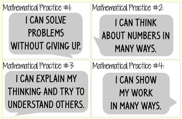 Everybody is a Genius: Kid Friendly Mathematical Practices Posters - Need to print these up for next year!