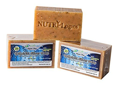 ORGANIC Exfoliating SILVER DEFENSE SOAP bar 6 OZ - MADE with CERTIFIED ORGANIC INGREDIENTS. SILVER INFUSED to CLEANSE Skin & ANTI-BACTERIAL. Made with ORGANIC HONEYSUCKLE & LEMON PEEL/ Made in USA - http://essential-organic.com/organic-exfoliating-silver-defense-soap-bar-6-oz-made-with-certified-organic-ingredients-silver-infused-to-cleanse-skin-anti-bacterial-made-with-organic-honeysuckle-lemon-peel-made-in/