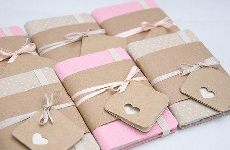 Mini caderno #lembrancinhas #maternidade #favor