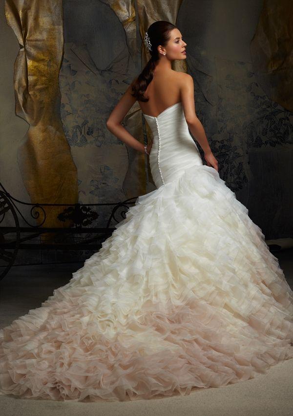 Bridal Dress From Blu By Mori Lee Style 5101 Ruffled Organza