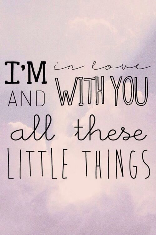 """Little Things"" by One Direction. Seriously, I can never get enough of this song. <3"
