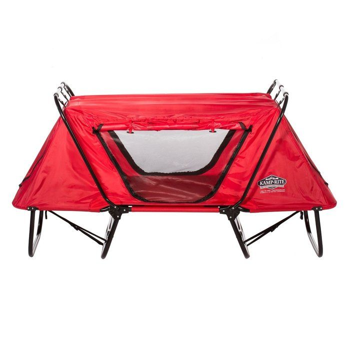 """Modeled around the concept of the original tent cot, the Kamp-Rite Kid Cot with Rain Fly is a great addition to family camping gear. Extremely versatile, the Kamp-Rite Kid Cot with Rain Fly provides protection at the beach from sand and sun, and the """"no-see-um"""" netting on each of the 4 tent openings offers protection from bothersome insects. Just like the larger versions of Kamp-Rite Kid Cot with Rain Fly, the Kamp-Rite Kid Cot with Rain Fly converts to a lounge chair or sleeping cot in…"""