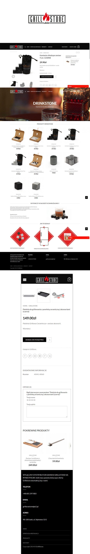 Logo oraz responsywny sklep internetowy z systemem Wordpress dla GRILLAVASTONE
