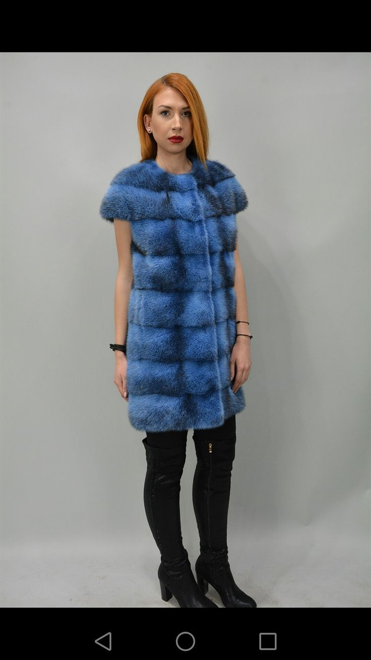 Blue mood #mink#vest#